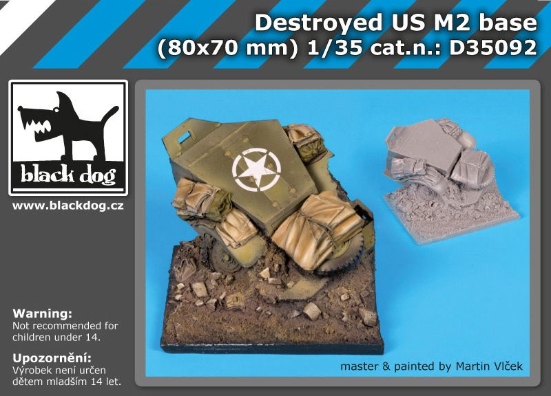 D35092 1/35 Destroyed US M2 base Blackdog