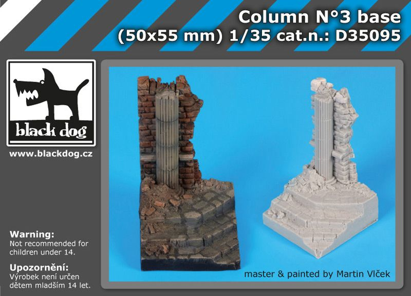 D35095 1/35 Column N°3 base Blackdog