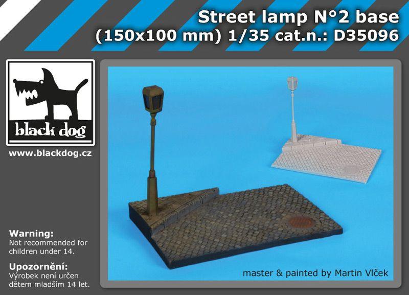 D35096 1/35 Street lamp N°2 base Blackdog