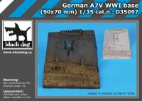 D35097 1/35 German A7V WW I base Blackdog