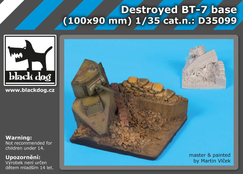 D35099 1/35 Destroyed BT-7 base Blackdog