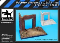 D72002 1/72 Factory entrance (125x75 mm)