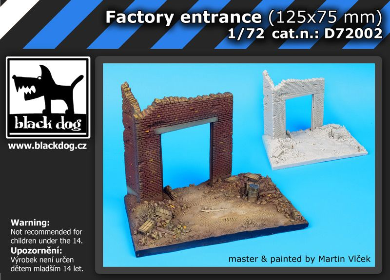 D72002 1/72 Factory entrance (125x75 mm) Blackdog