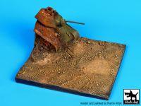D72004 1/72 Destroyed T34 base Blackdog