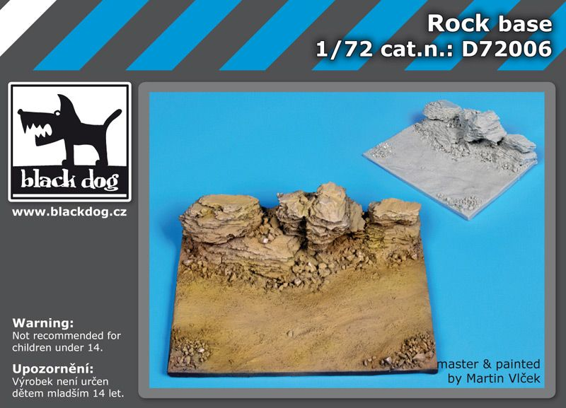 D72006 1/72 Rock base Blackdog