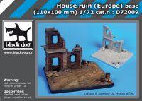 D72009 1/72 House ruin Europe base