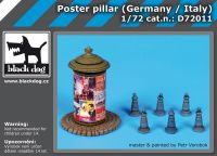 D72011 1/72 Poster pillar Germany-Italy