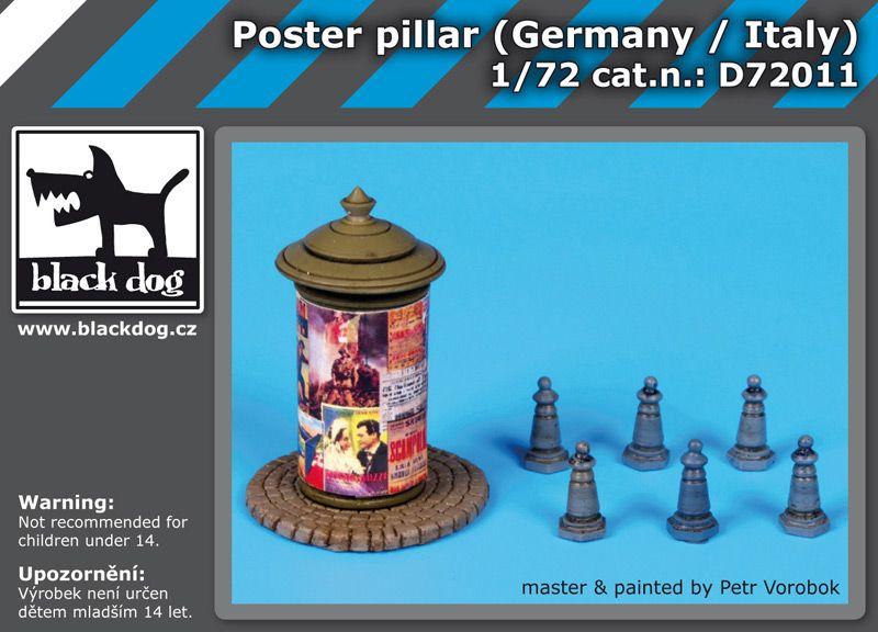D72011 1/72 Poster pillar Germany-Italy Blackdog