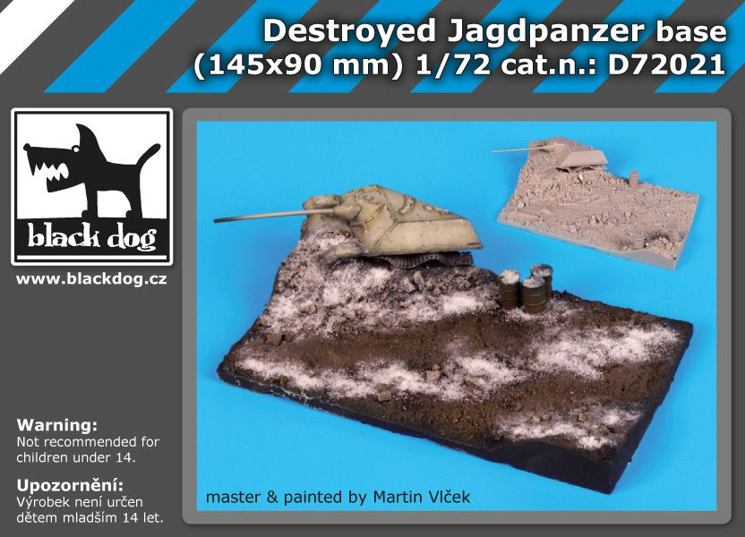 D72021 1/72 Destroyed Jagdpanzer base Blackdog
