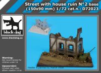 D72023 1/72 Street with house ruin N Blackdog