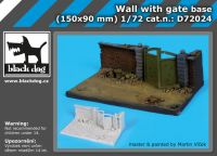 D72024 1/72 Wall with gate base