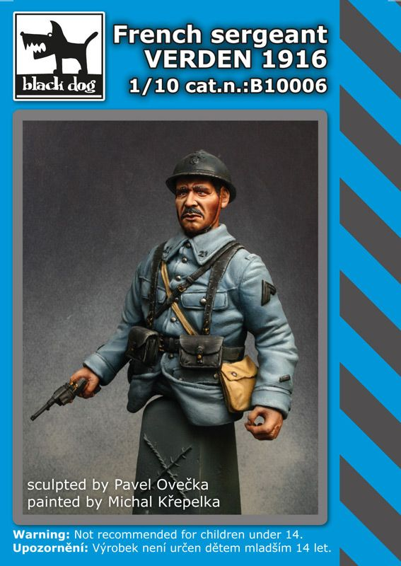 B10006 French sergeant Verden 1916 Blackdog