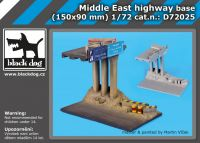 D72025 1/72 Middle east highway base Blackdog