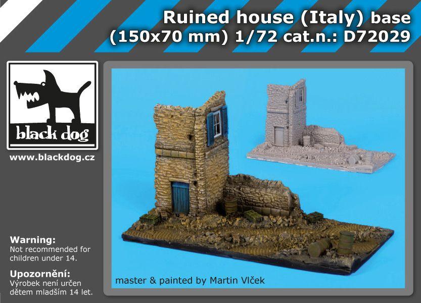 D72029 1/72 Ruined house italy base Blackdog