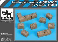 D72033 1/72 Sandbag armored wall (HESCO) 2