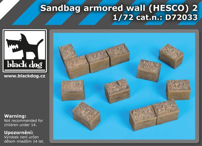 D72033 1/72 Sandbag armored wall (HESCO) 2 Blackdog