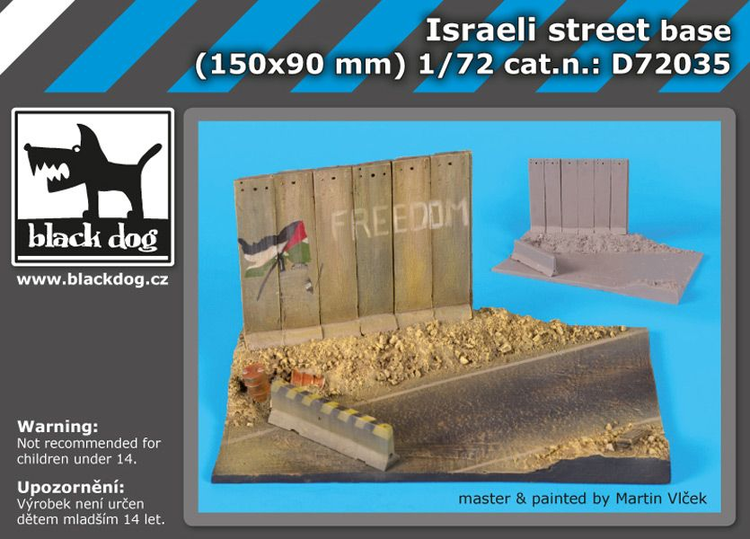 D72035 1/72 Israeli street base Blackdog