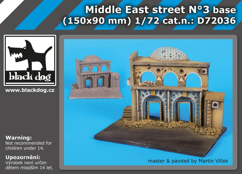 D72036 1/72 Middle East street N°3 base Blackdog