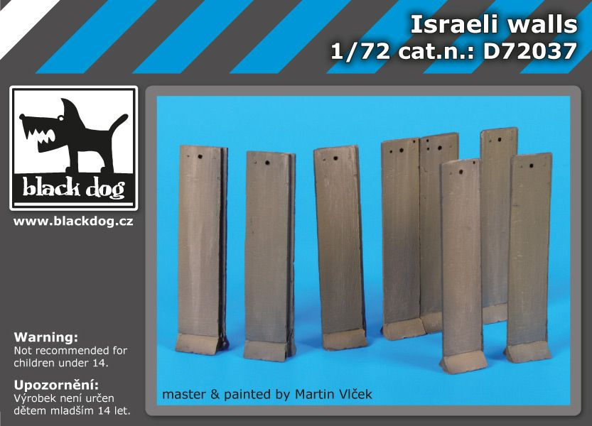 D72037 1/72 Israeli walls Blackdog