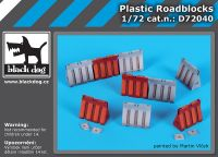 D72040 1/72 Plastic roadblocks Blackdog