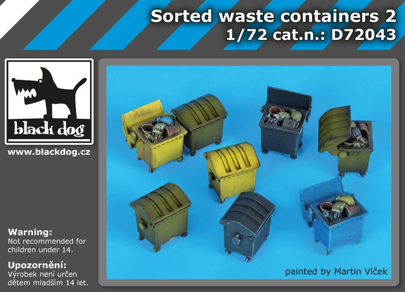 D72043 172 Sorted waste containers Blackdog