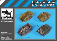 D72044 1/72 Rubble containers