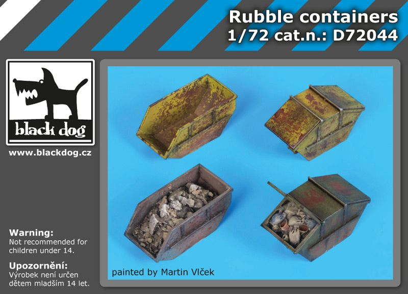 D72044 1/72 Rubble containers Blackdog