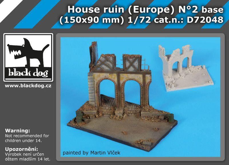 D72048 172 House ruin Europe N°2 base Blackdog