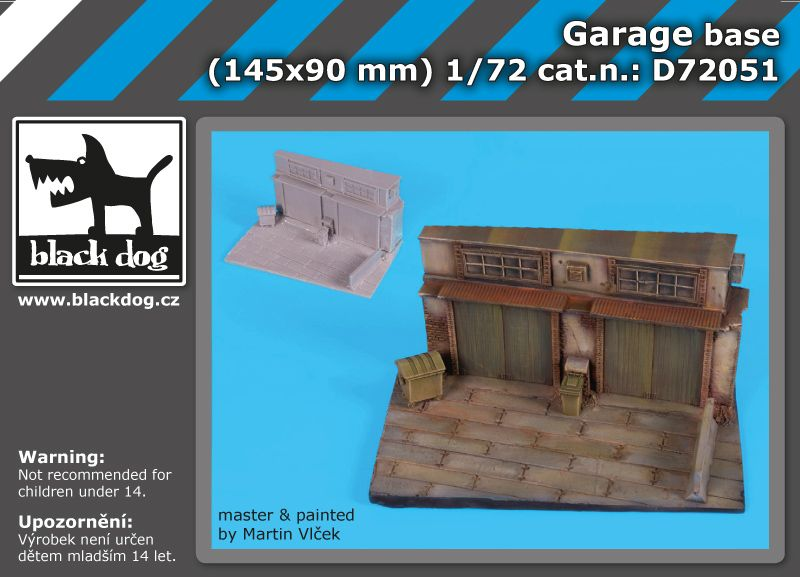 D72051 1/72 Garage base Blackdog