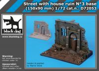 D72053 1/72 Street with house ruin N;°3 base