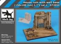 D72054 1/72 House ruin with well base