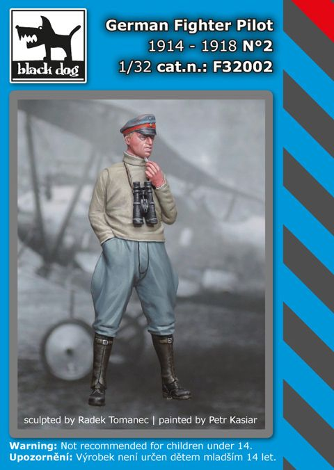 F32002 1/32 Fighter Pilot 1914-1918 N°2 Blackdog