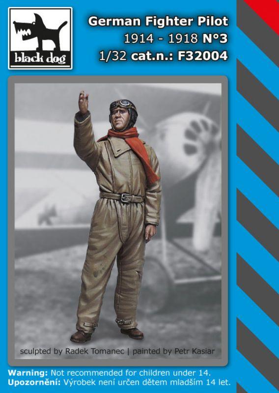 F32004 1/32 German fighter pilot N°3 1914-1918 Blackdog