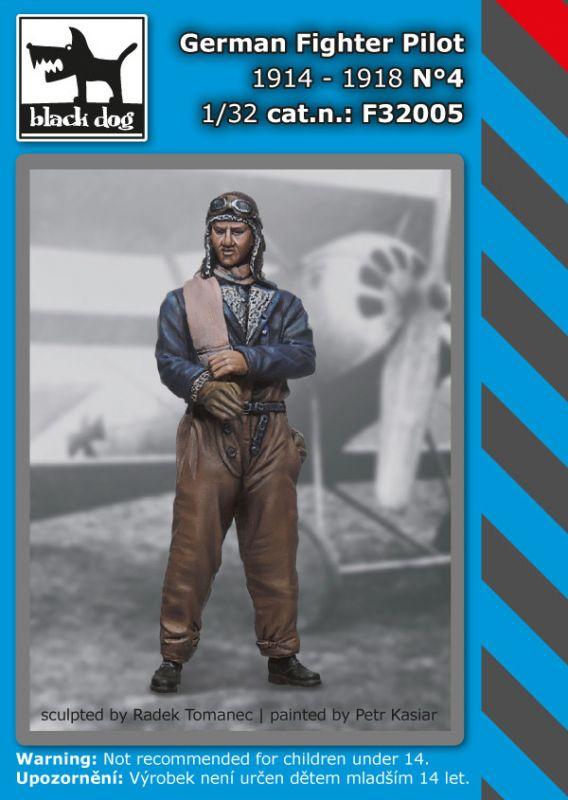 F32005 1/32 German fighter pilot N°4 1914-1918 Blackdog