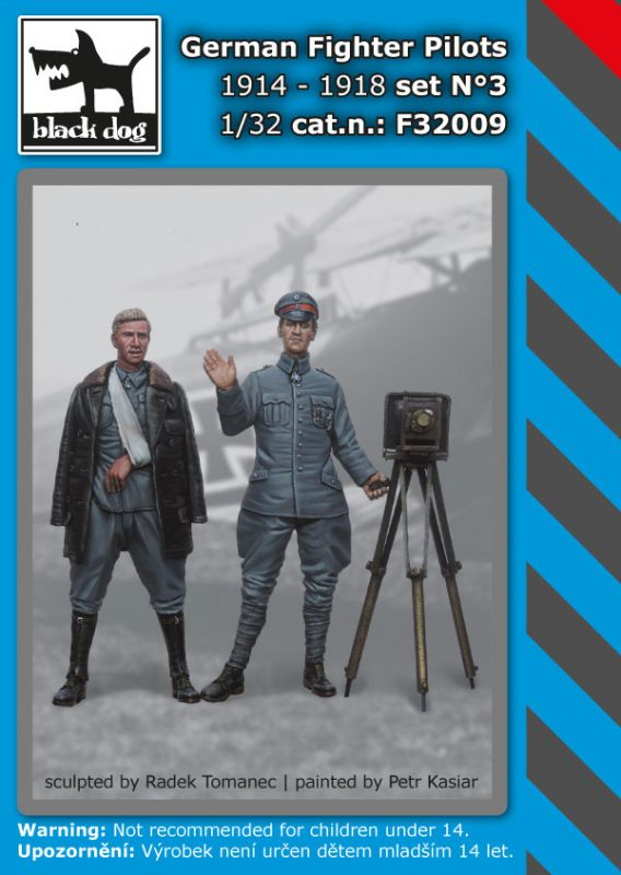 F32009 1/32 German Fighter Pilots set N°3 1914-1918 Blackdog