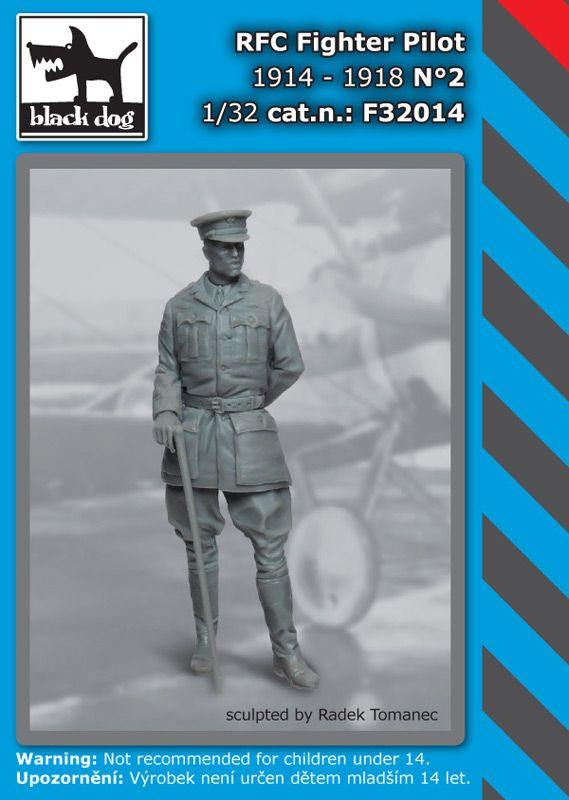 F32014 1/32 RFC Fighter pilot N°2 Blackdog
