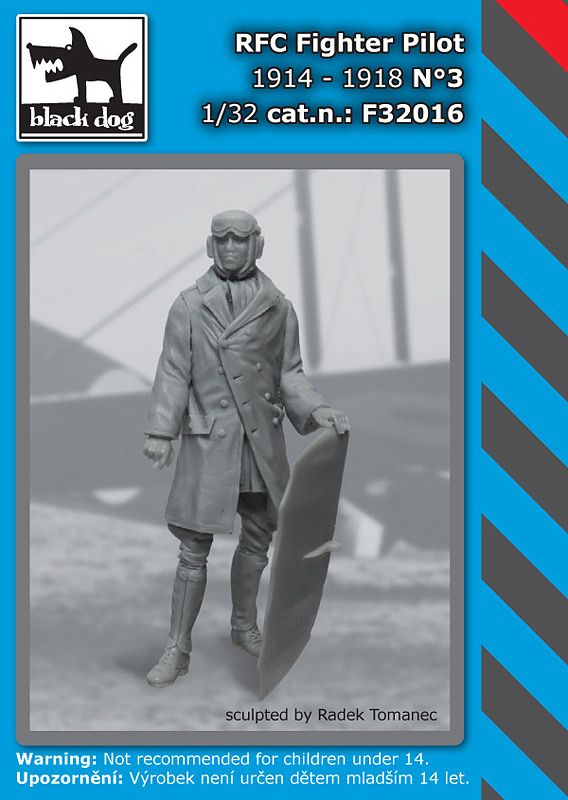 F32016 1/32 RFC Fighter pilot N°3 Blackdog