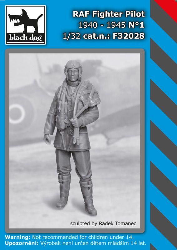 F32028 1/32 RAF fighter pilot 1940-1945 N°1 Blackdog