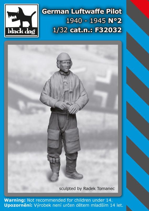 F32032 1/32 German Luftwaffe pilot N°2 1940-1945 Blackdog