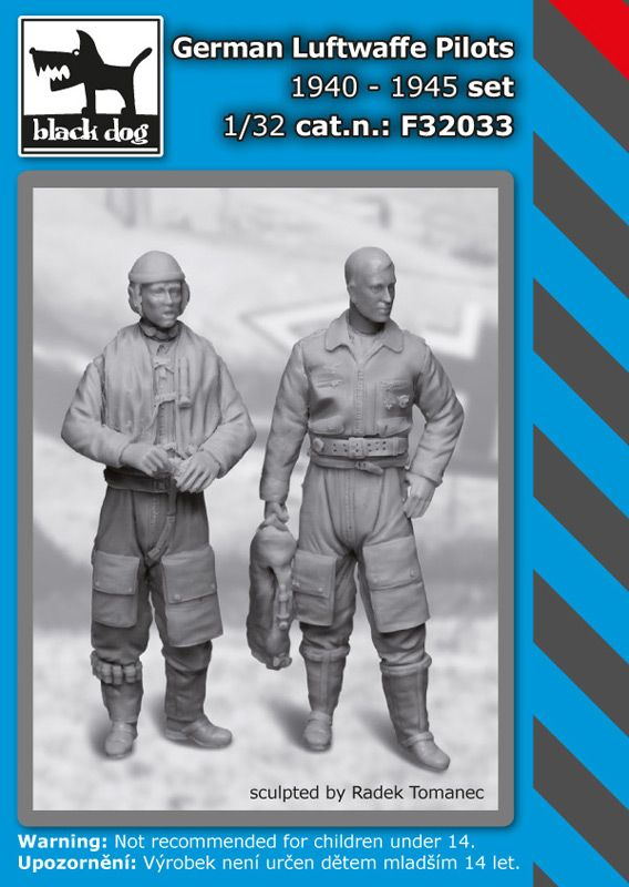 F32033 1/32 German Luftwaffe pilots set 1940-1945 Blackdog