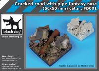 FD001 Cracked road with pipe base fantasy base Blackdog