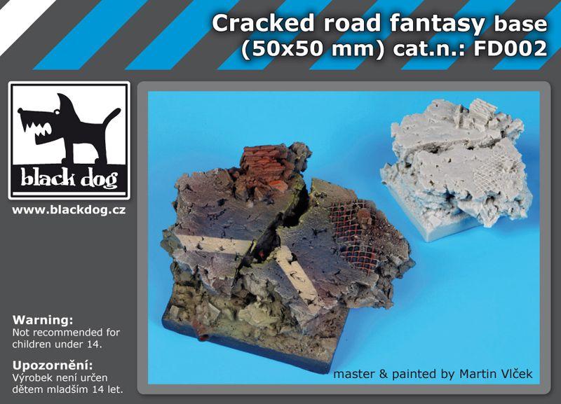 FD002 Cracked road base fantasy base Blackdog