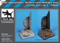 FD009 Post apocalyptic factory ruin fant.base