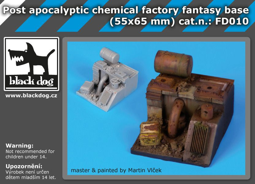 FD010 Post apocalyptic chemical factory fantasy base Blackdog