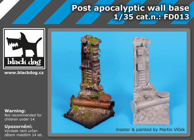 FD013 Post apocalyptic wall base Blackdog