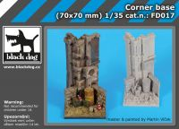 FD017 Corner base Blackdog
