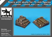 FD018 Stairs with skulls for 75 mm figures