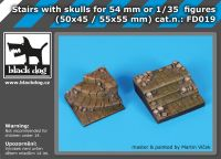 FD019 Stairs with skulls for 54 mm or 1\35 figures Blackdog