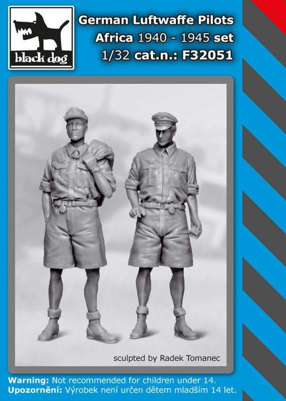 F32051 1/32 German Luftwaffe pilots set Africa 1940-1945 Blackdog