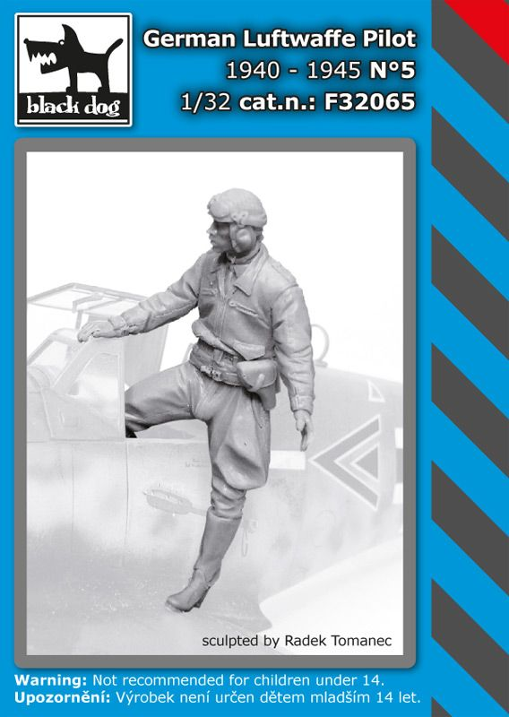 F32065 132German Luftwafe pilot N°5 Blackdog